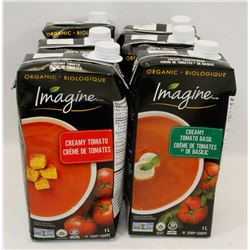 LOT OF 6 ASSORTED 1L IMAGINE TOMATO SOUPS
