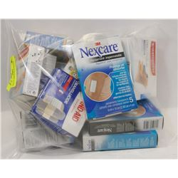 BAG OF ASSORTED BANDAGES.