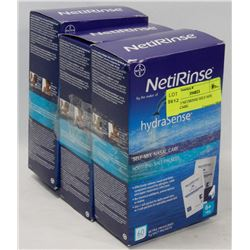 LOT OF 3 NETIRINSE SELF-MIX NASAL CARE.