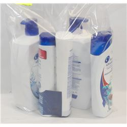 BAG OF ASSORTED HEAD AND SHOULDERS SHAMPOO.