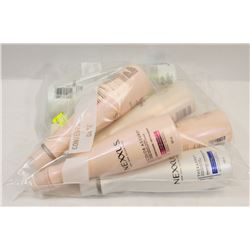 BAG OF ASSORTED NEXXUS SHAMPOOS AND CONDITIONERS.