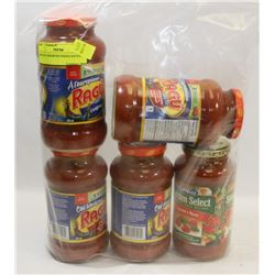 BAG OF ASSORTED PASTA SAUCE.