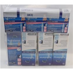 BAG OF ASSORTED HYDRASENSE NASAL CARE PRODUCTS.