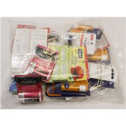 BAG OF MISC INCL ORA JEL AND LIP PRODUCTS.
