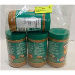 LOT OF 4 KRAFT PEANUT BUTTER SMOOTH.