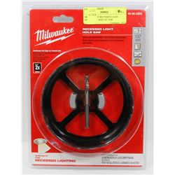"MILWAUKEE RECESSED LIGHT HOLESAW 5 AND 3/8"" FOR"