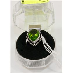 #76-GREEN PERIDOT GEMSTONE RING