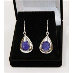 #58-NATURAL BLUE SAPPHIRE GEMSTONE EARRINGS