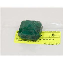 #25-NATURAL GREEN EMERALD GEMSTONE  176.5CT