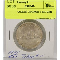 1936 CANADIAN GEORGE V SILVER DOLLAR.
