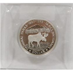 1885-1985 CANADIAN NATIONAL PARKS MOOSE SILVER