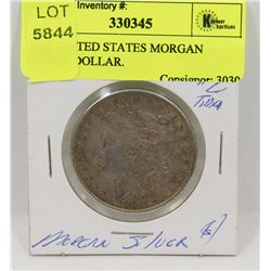 1888 UNITED STATES MORGAN SILVER DOLLAR.