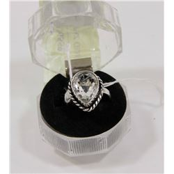 #149- WHITE TOPAZ GEMSTONE RING