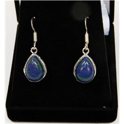 #120-RAINBOW CALSILICA GEMSTONE EARRINGS