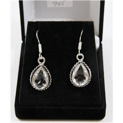 #150- WHITE TOPAZ GEMSTONE EARRINGS