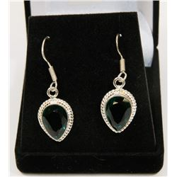 #114-CHROME DIOPSIDE GEMSTONE EARRINGS