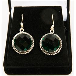 #115-CHROME DIOPSIDE GEMSTONE EARRINGS