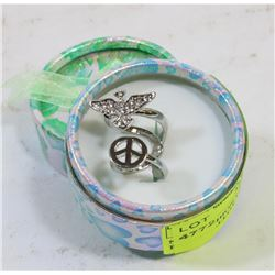 NEW FASHION LADIES PEACE PIGEON ALLOY FINGER RING