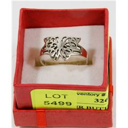 .925 SILVER BUTTERFLY RING - SIZE 7 -