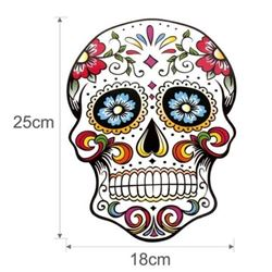 NEW LARGE SUGAR SKULL HEAT TRANSFER PATCH