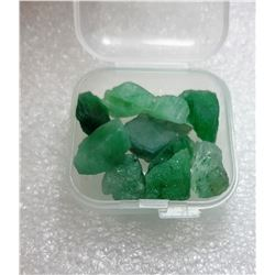 13)  LOT OF 52 CT ROUGH NATURAL GREEN