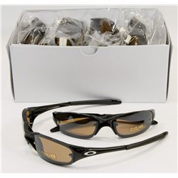 CASE OF OAKLEY STYLE SMOKE BLACK SUNGLASSES