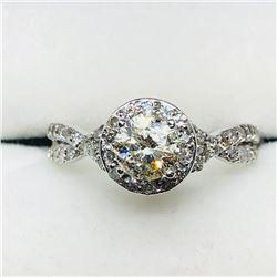 44) 10K WHITE GOLD DIAMOND RING