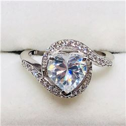 47) STERLING SILVER CUBIC ZIRCONIA RING