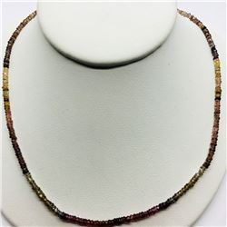 69) STERLING SILVER SAPPHIRE NECKLACE