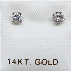 72) 14K WHITE GOLD DIAMOND EARRINGS