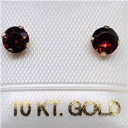 84) 10K YELLOW GOLD GARNET EARRINGS