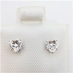 198) 14K WHITE GOLD CZ WITH 10K BACKINGS EARRINGS