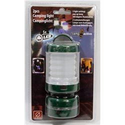 NEW! 2PCS LED CAMPING LIGHT - GREEN