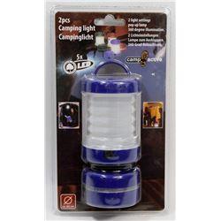 NEW! 2PCS LED CAMPING LIGHT - BLUE
