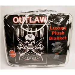 "NEW! ""OUTLAW"" LUXURY PLUSH BLANKET (QUEEN)"