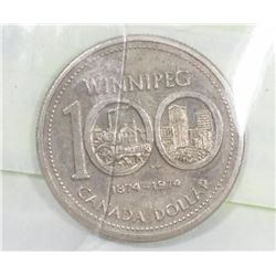 1974 WINNIPEG CENTENNIAL DOLLAR COIN