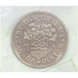 1871-1971 BC CENTENNIAL $1 DOLLAR COIN