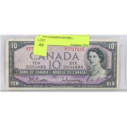 1954 CANADIAN $10 BILL.