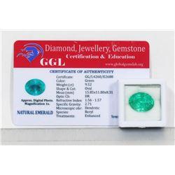 #3-NATURAL GREEN EMERALD GEMSTONE 9.52CT