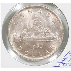 1935 CANADA SILVER $1 COIN