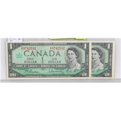 LOT OF 2 CANADA 1967 $1 BILLS,