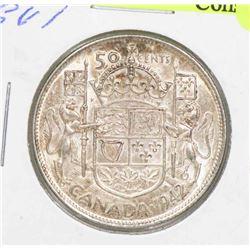 1942 CANADA GVI 50 CENT COIN