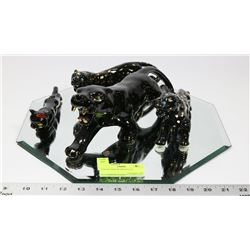 COLLECTION OF WILD CAT FIGURES