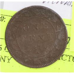 1876 CANADIAN VICTORIAN LARGE PENNY