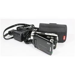 SLIM 8.0 MEGAPIXEL CAMCORDER WITH CHARGER, ADAPTER