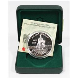 1998 RCM STERLING SILVER RCMP PROOF DOLLAR COIN.