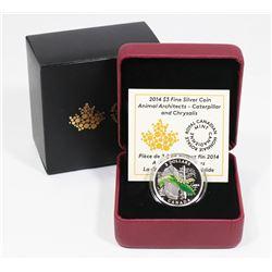 RCM 2014 CANADIAN $3 FINE SILVER ANIMAL ARCHITECTS