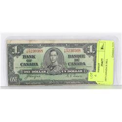 1937 CANADA $1 BILL