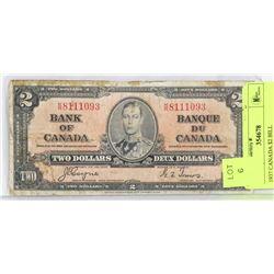 1937 CANADA $2 BILL