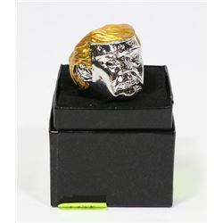 NEW DONALD TRUMP HEAVY RING WITH GOLD TONE